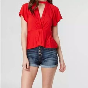 New Women's Free People Just A Twist Top